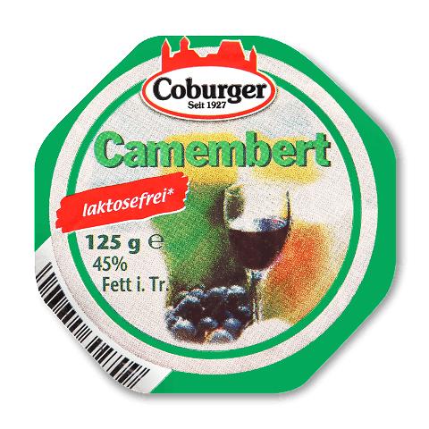 Сир Coburger «Камамбер» безлактозний 45% жиру