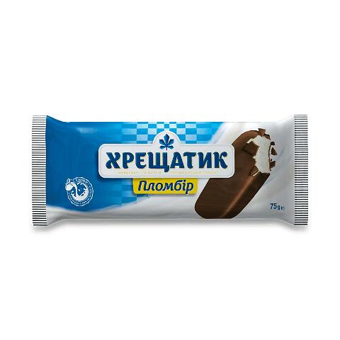 Морозиво «Хладик» «Хрещатик» пломбір у кондитерській глазурі