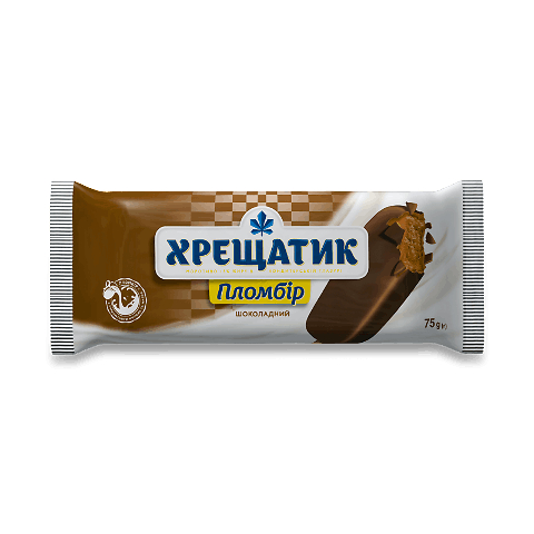 Морозиво «Хладик» «Хрещатик» шоколадне в шоколадній глазурі