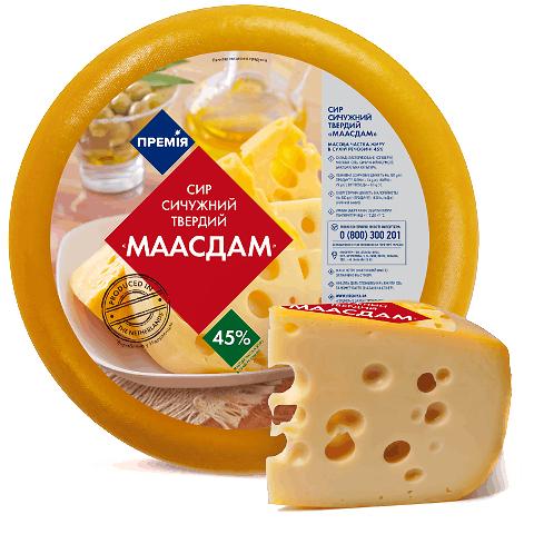 Сир «Премія»® «Маасдам» 45%