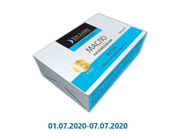 Масло кислосливочное 82% ТМ «De Luxe Foods & Goods Selected»- 200 г