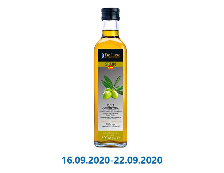 Масло De Luxe Foods & Goods Selected оливковое Extra Virgin ск / пл - 500 мл