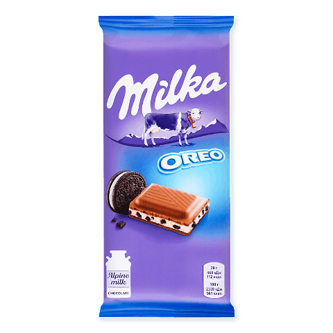 Шоколад Milka крем з печивом Orео